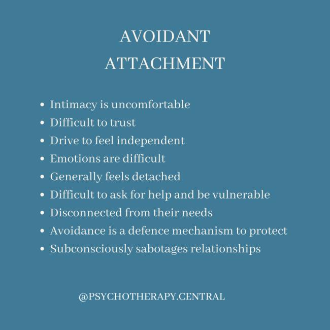 AVOIDANT ATTACHMENT
