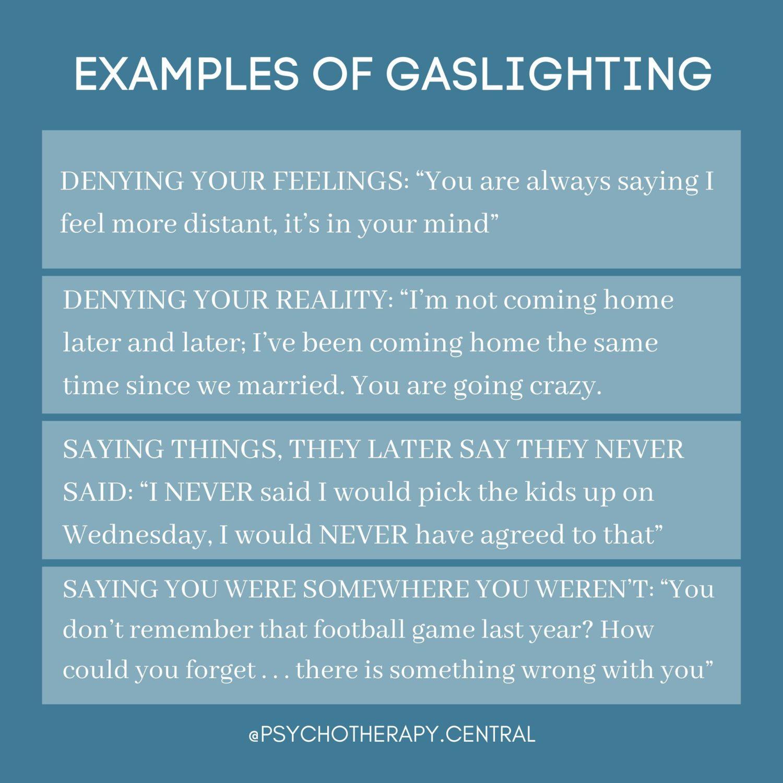 Examples Of Gaslighting