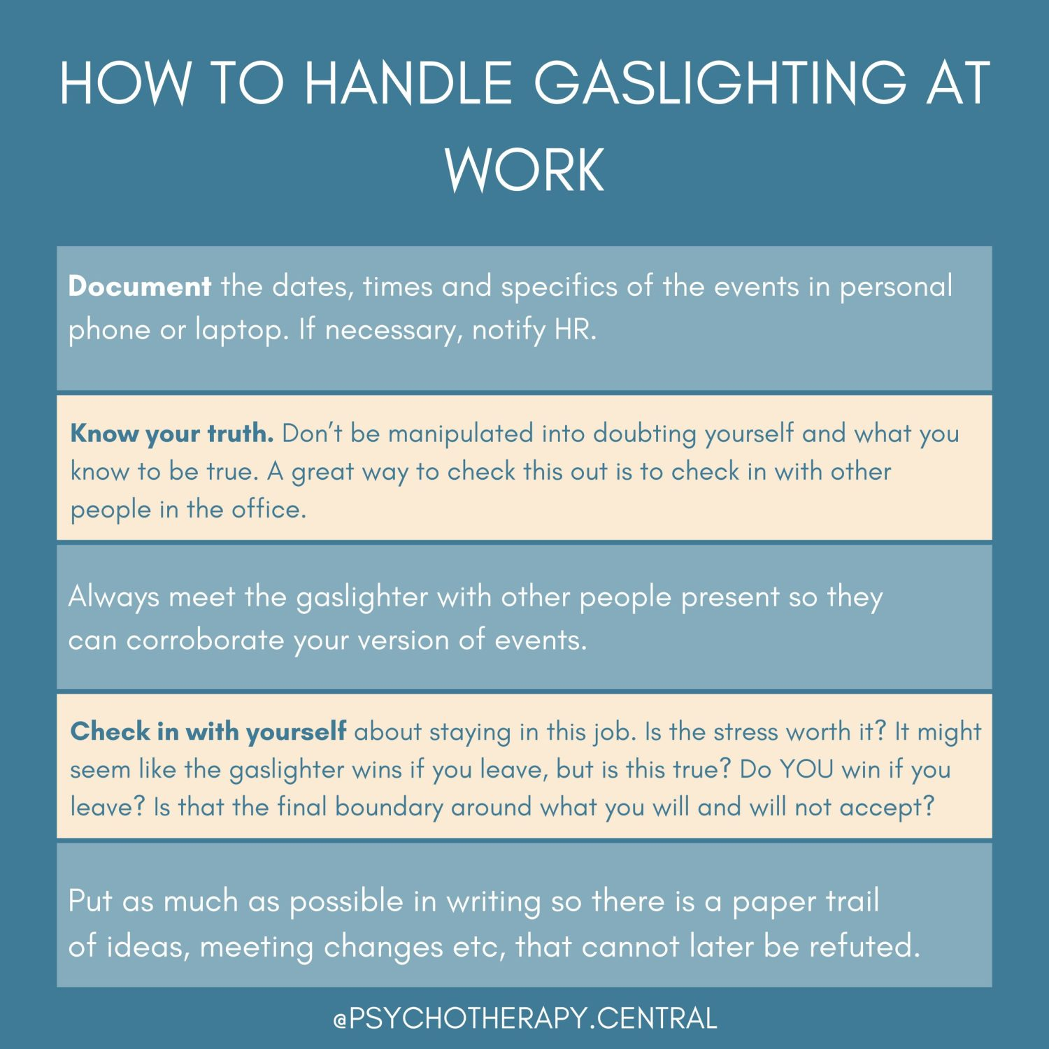 How To Handle Gaslighting At Work