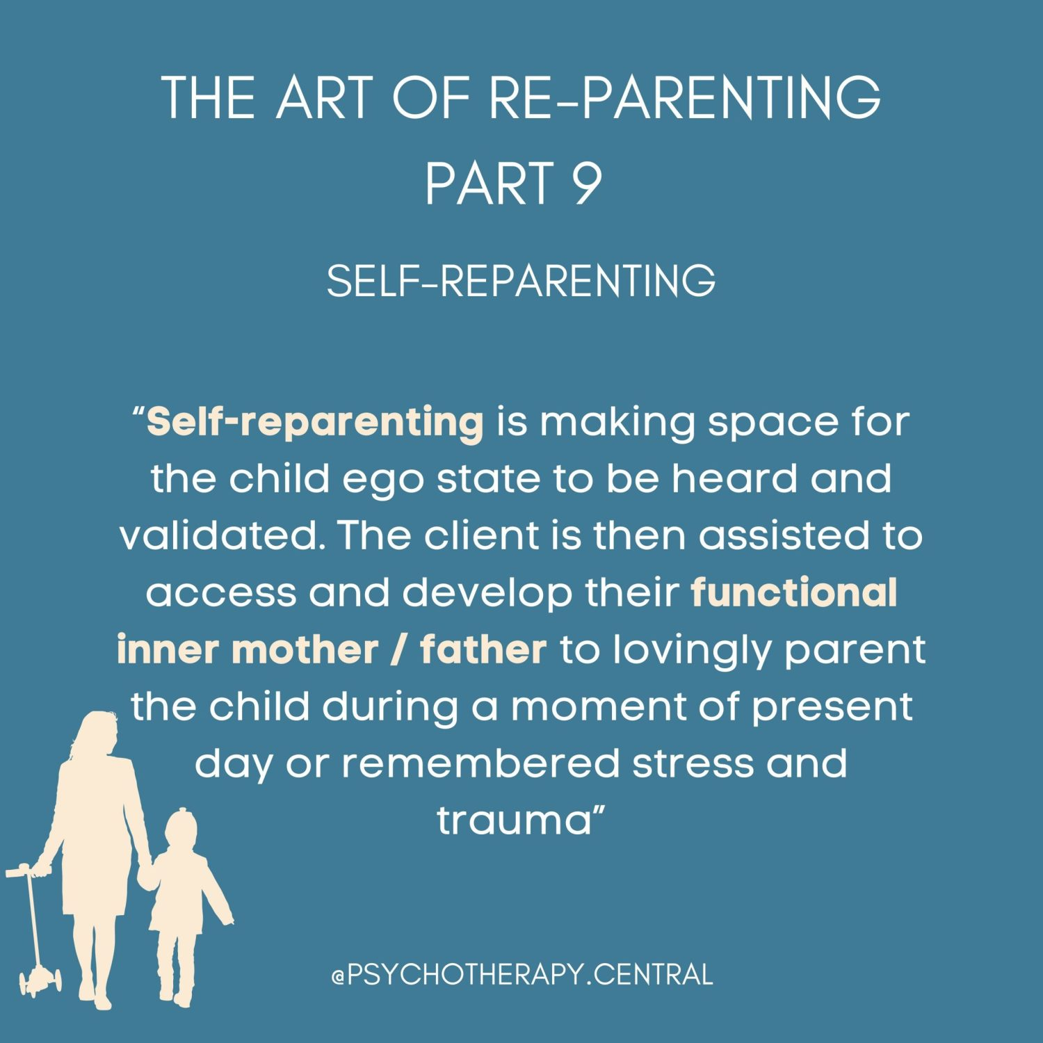 THE ART OF RE-PARENTING PART 9 SELF-REPARENTING