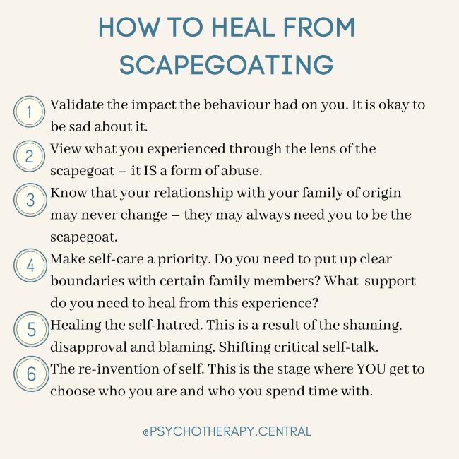 How to heal from scapegoating