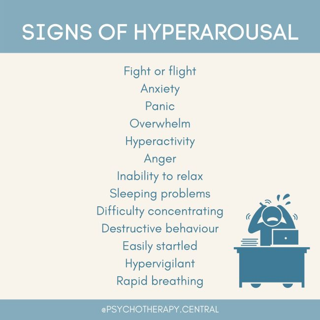 SIGNS OF HYPERAROUSAL