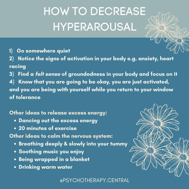 how to decrease hyperarousal
