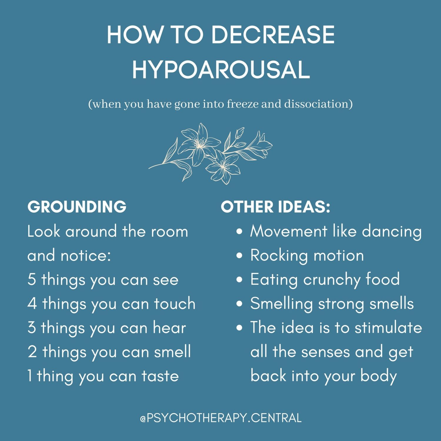 HOW TO DECREASE HYPOAROUSAL