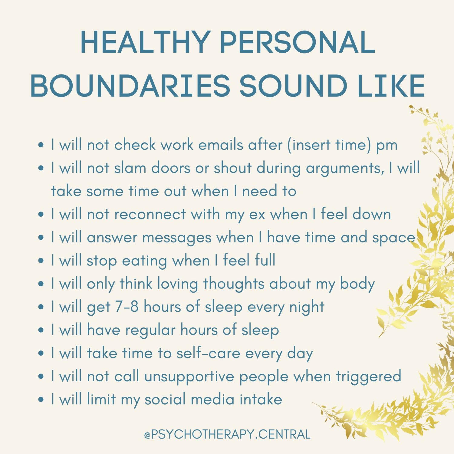 Healthy Personal Boundaries Sound Like