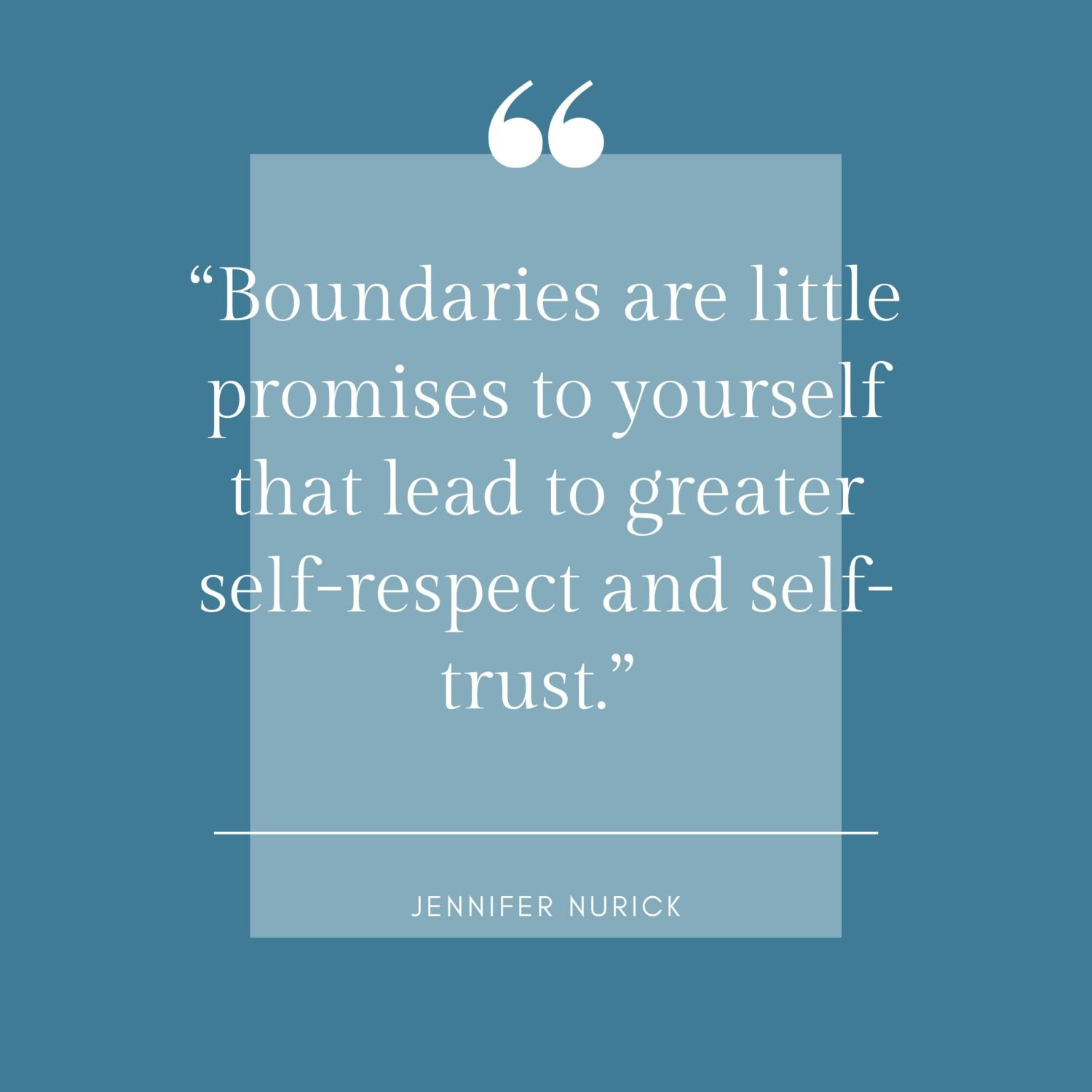 What Having A Healthy Boundary With Your Self