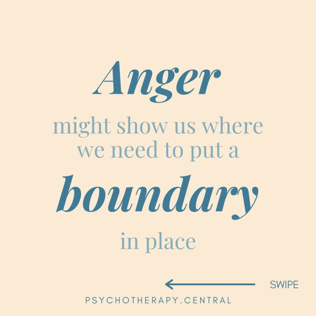 Anger Might Show Us Where We Need To Put A Boundary In Place