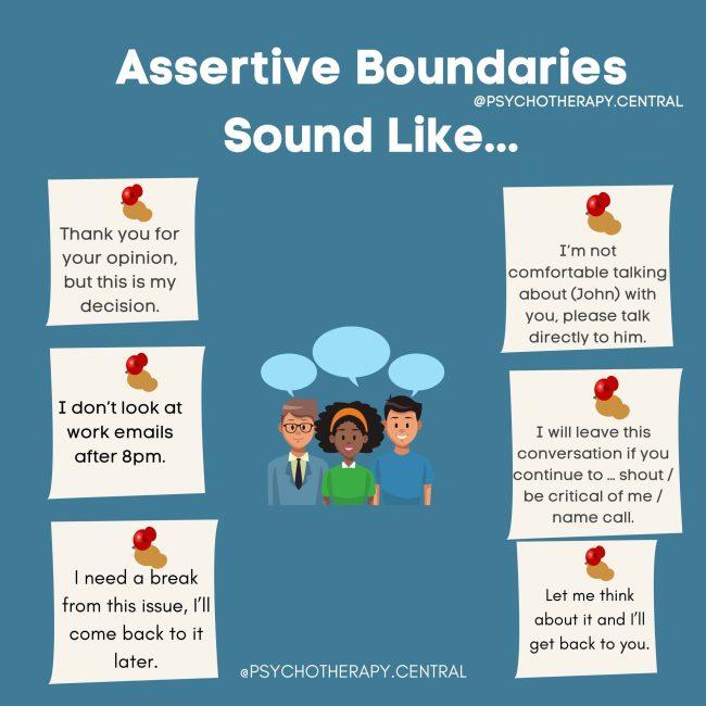 Assertive Boundaries Sound Like…