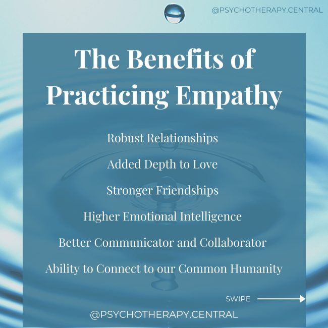 the benefits of practising empathy