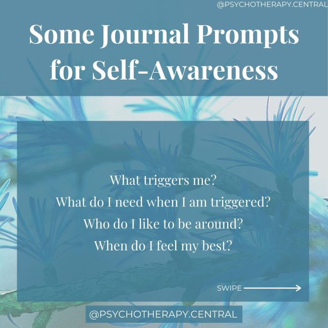journalling prompts for self awareness
