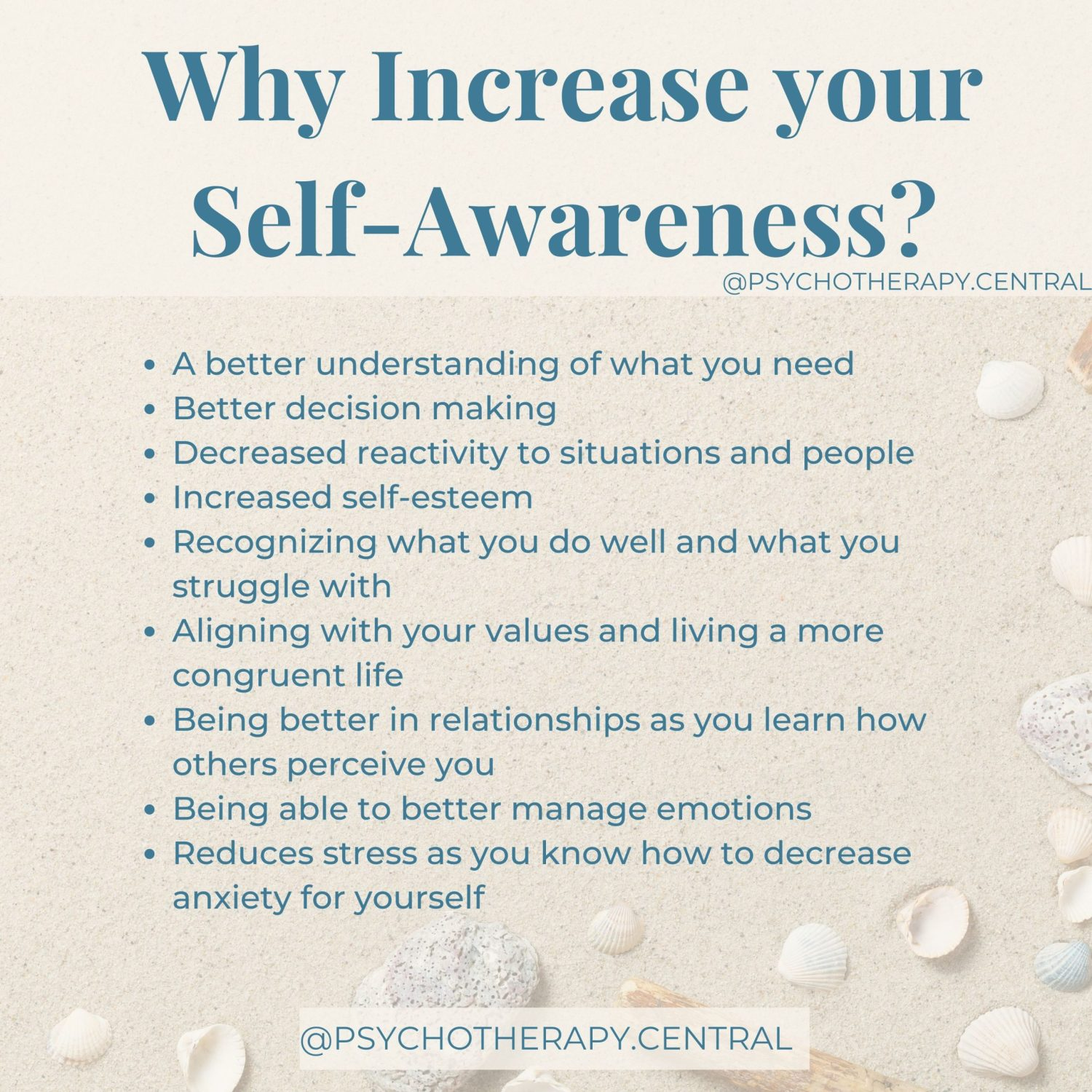 why increase your self awareness