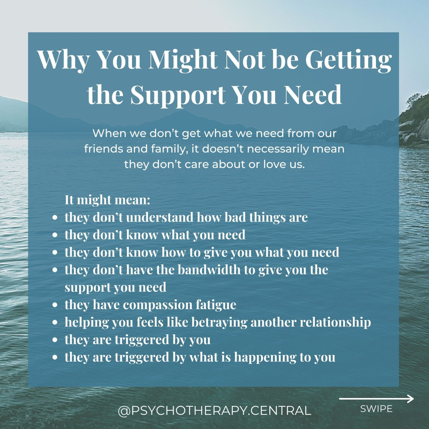 Why You Might Not be Getting the Support You Need