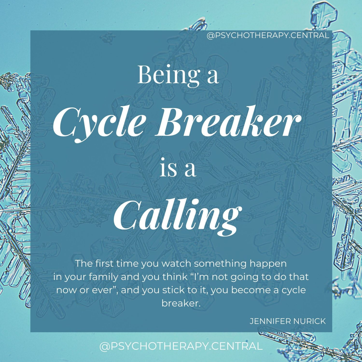Being a Cycle Breaker is a Calling