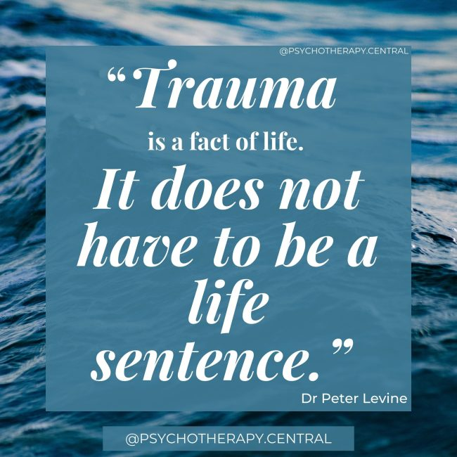 """""""Trauma is a fact of life. It does not have to be a life sentence."""""""
