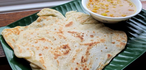 印度煎饼 + 杂豆咖喱 Roti Canai + Dhal Curry
