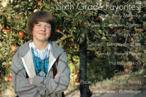 A sixth grader?!!!