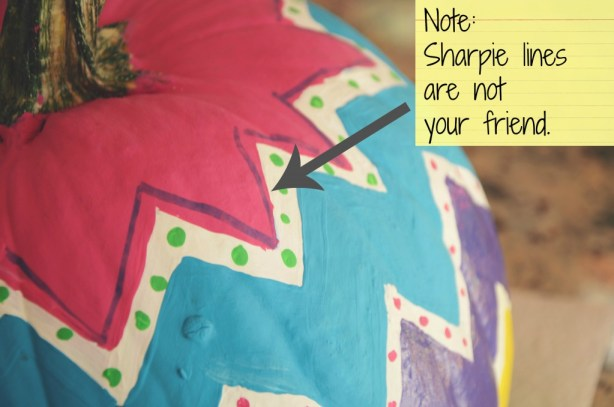 Don't use permanent marker on the pumpkin you plan to pain... via @jennyonthespot