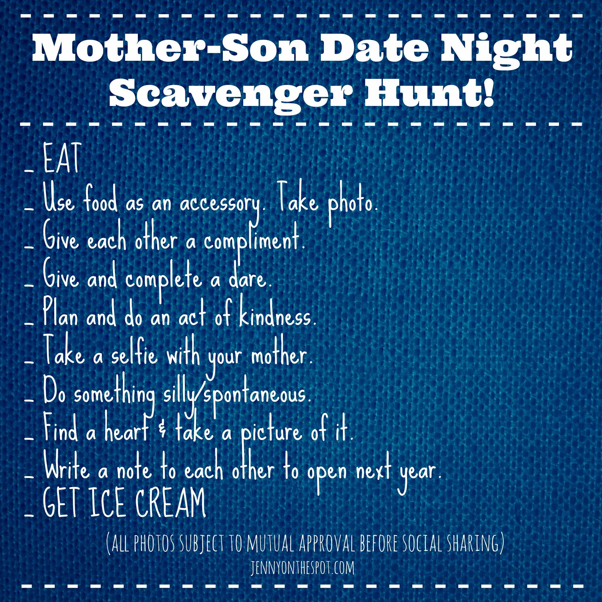 Dating scavenger hunt