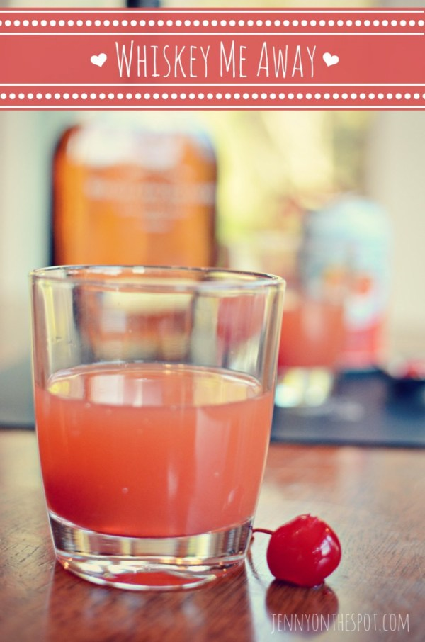 Make a delicious Valentine cocktail featuring whiskey! www.jennyonthespot.com
