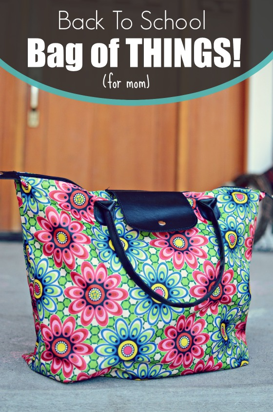 Back To School bag of THINGS! Sanity for the children, which means - sanity for MOM!