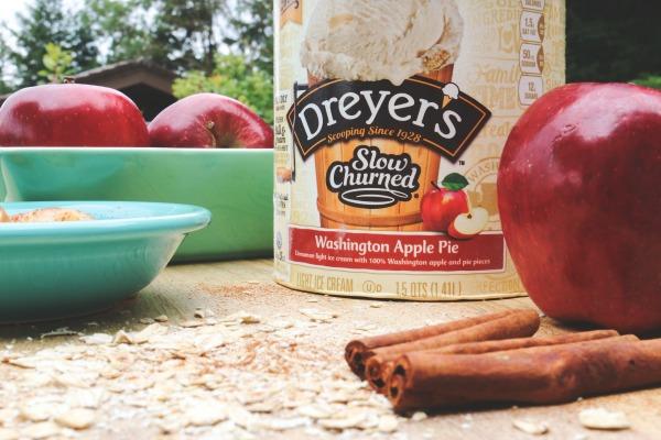 Apple Pie Ice Cream Cake feat. Dreyer's Washington Apple Pie Slow Churned Simple Recipes light ice cream via @jennyonthespot
