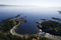 Flying over the gulf islands