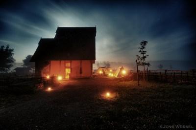 Illuminiertes Mittelalterhaus Nienover