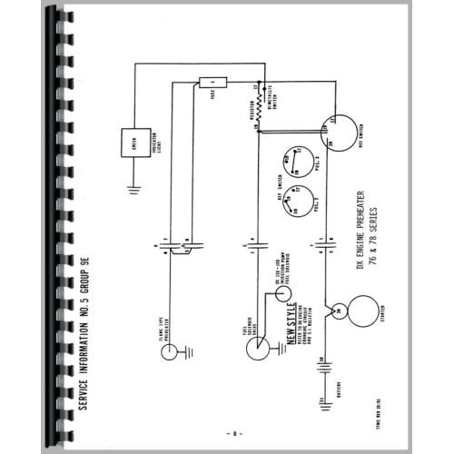 deutz allis d4006 tractor wiring diagram service manual