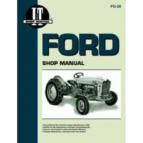 ford 2000 tractor service manual 19621964 4 cylinder it shop