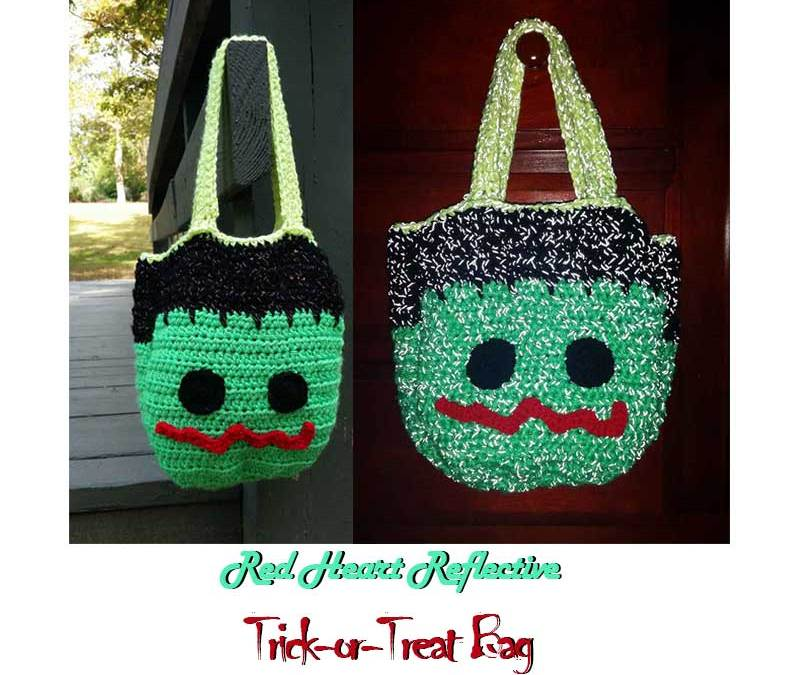 Red Heart Reflective Trick or Treat Bag