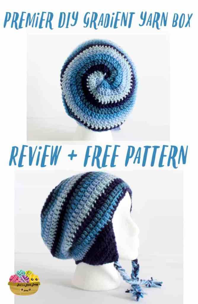 Premier DIY Gradient Yarn Box Review + Free Pattern - Get Twisted Unisex Hat