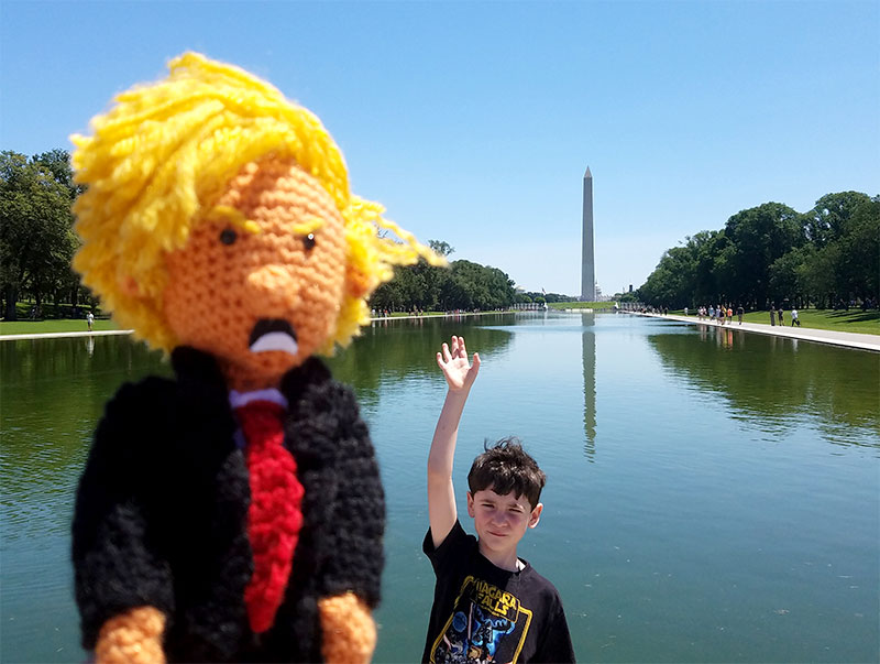 Tiny Trump Goes to Washington