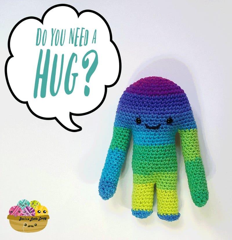 Hugamonster Crochet Pattern