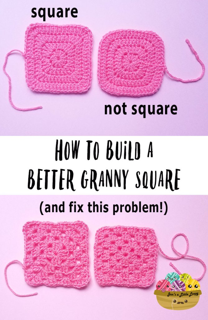 How to build a better granny square - this one simple trick will help your granny squares be more square!