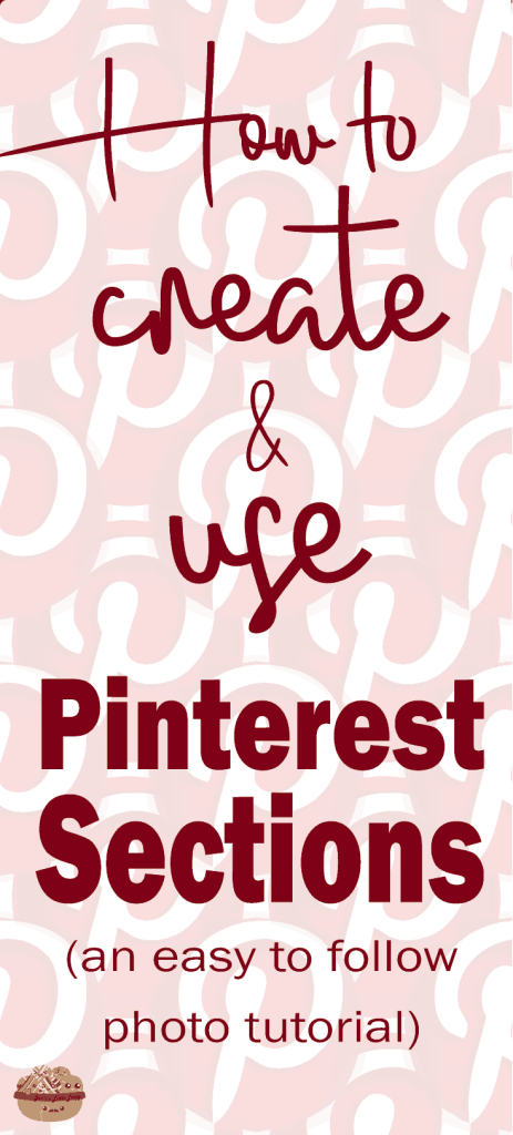 Pinterest sections are here! How and why you need to use them. This post has an excellent step-by-step photo tutorial to walk you through Pinterest's newest feature update. I'm SO excited about this change and it's definitely going to help you!