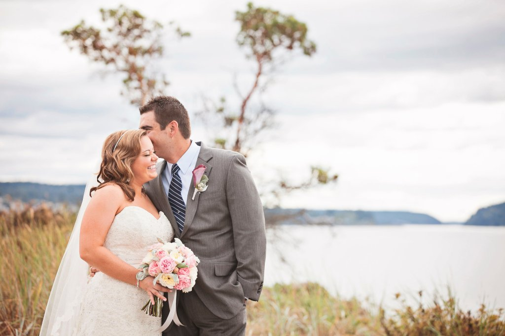 Chambers Bay Wedding, Pacific Northwest Wedding, Garden Rose Bouquet
