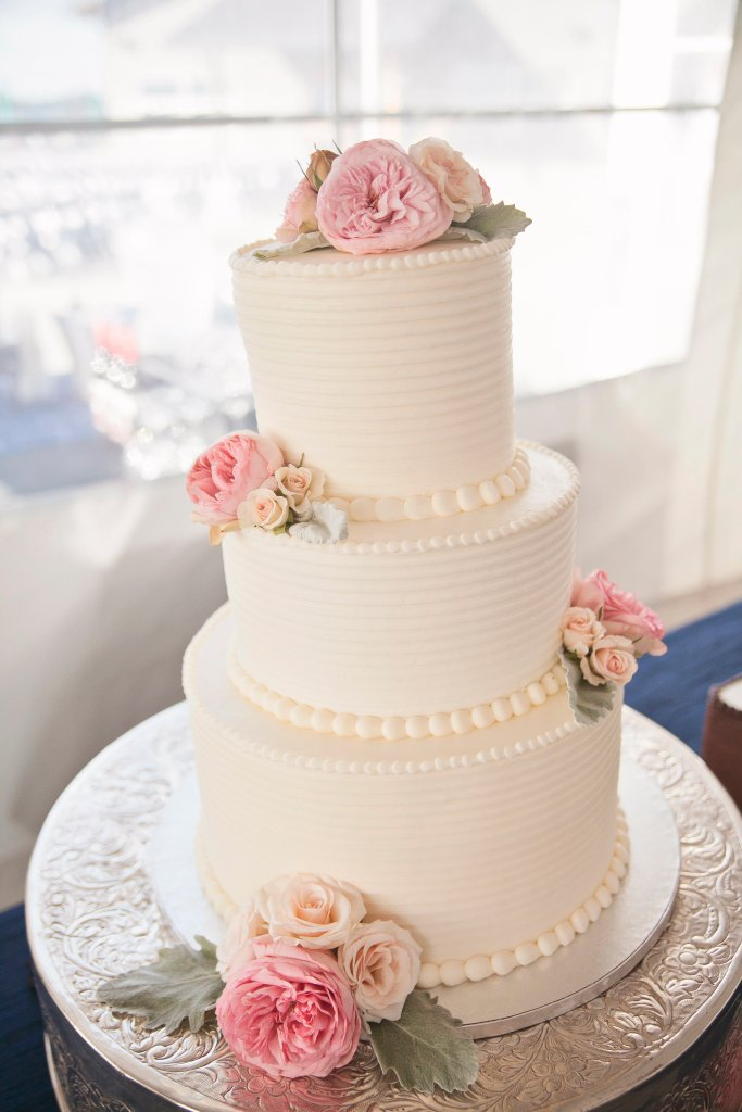 Wedding Cake, Garden Roses, Wedding Cake with Garden Roses