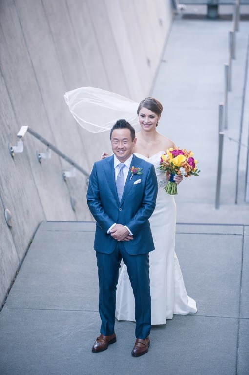 Union Station Tacoma Wedding || Photo: Genesa Richards Photography ||First Look Downtown Tacoma