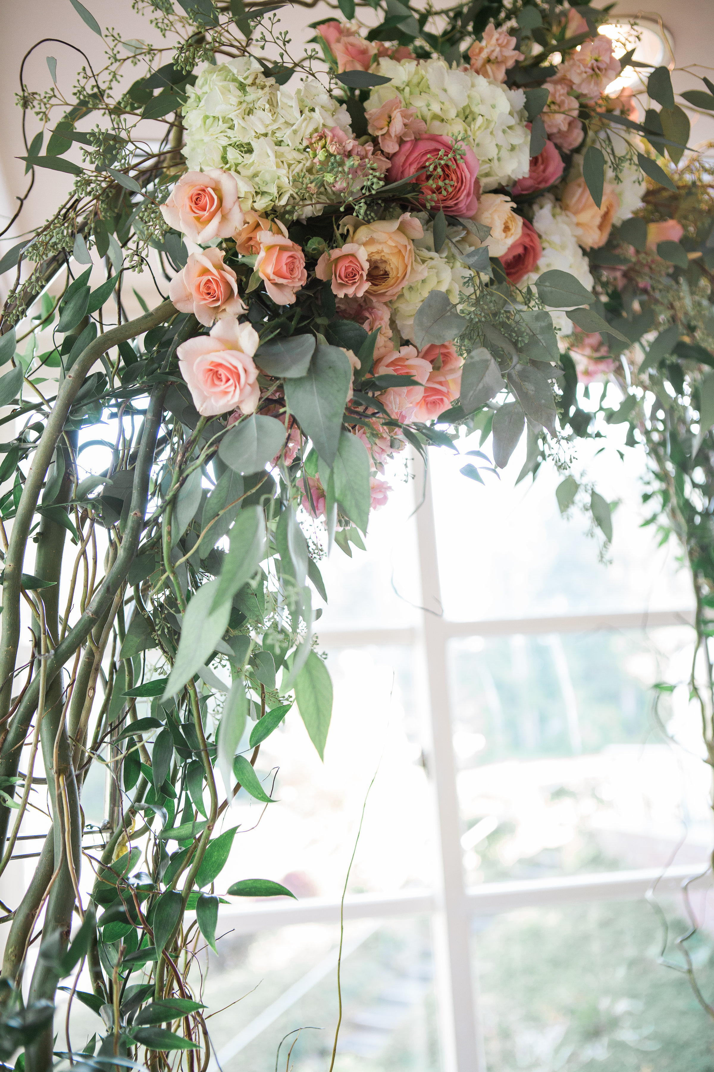 Coral, Navy & Sage Canterwood Wedding