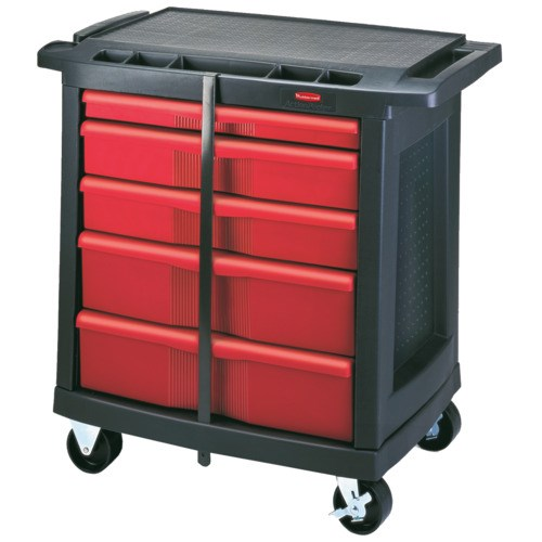 Rubbermaid 7734 88 5 Drawer Work Center Utility Cart