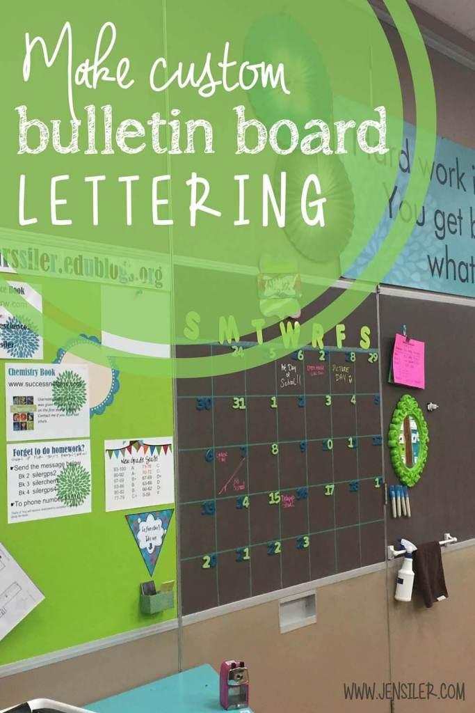 bulletin board lettering