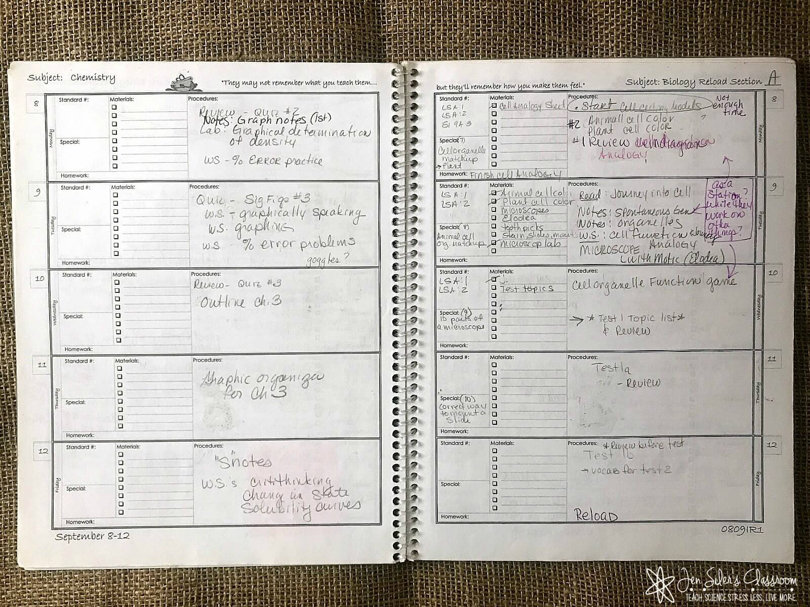 DIY teachers lesson planners