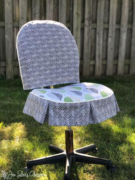 desk chair slipcover front