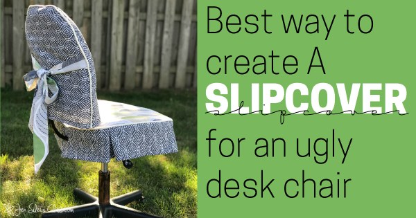 best way to create a slipcover for an ugly chair