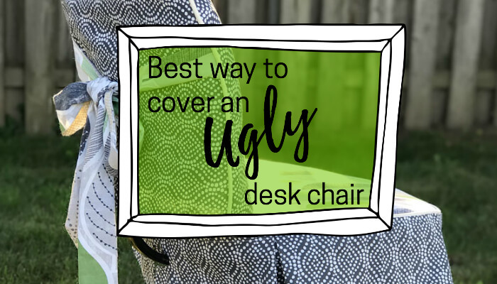 The best way to cover an ugly desk chair