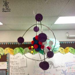 atomic models on ceiling