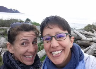 Jo Dibblee & Jen, post-writing retreat, in Sooke, BC
