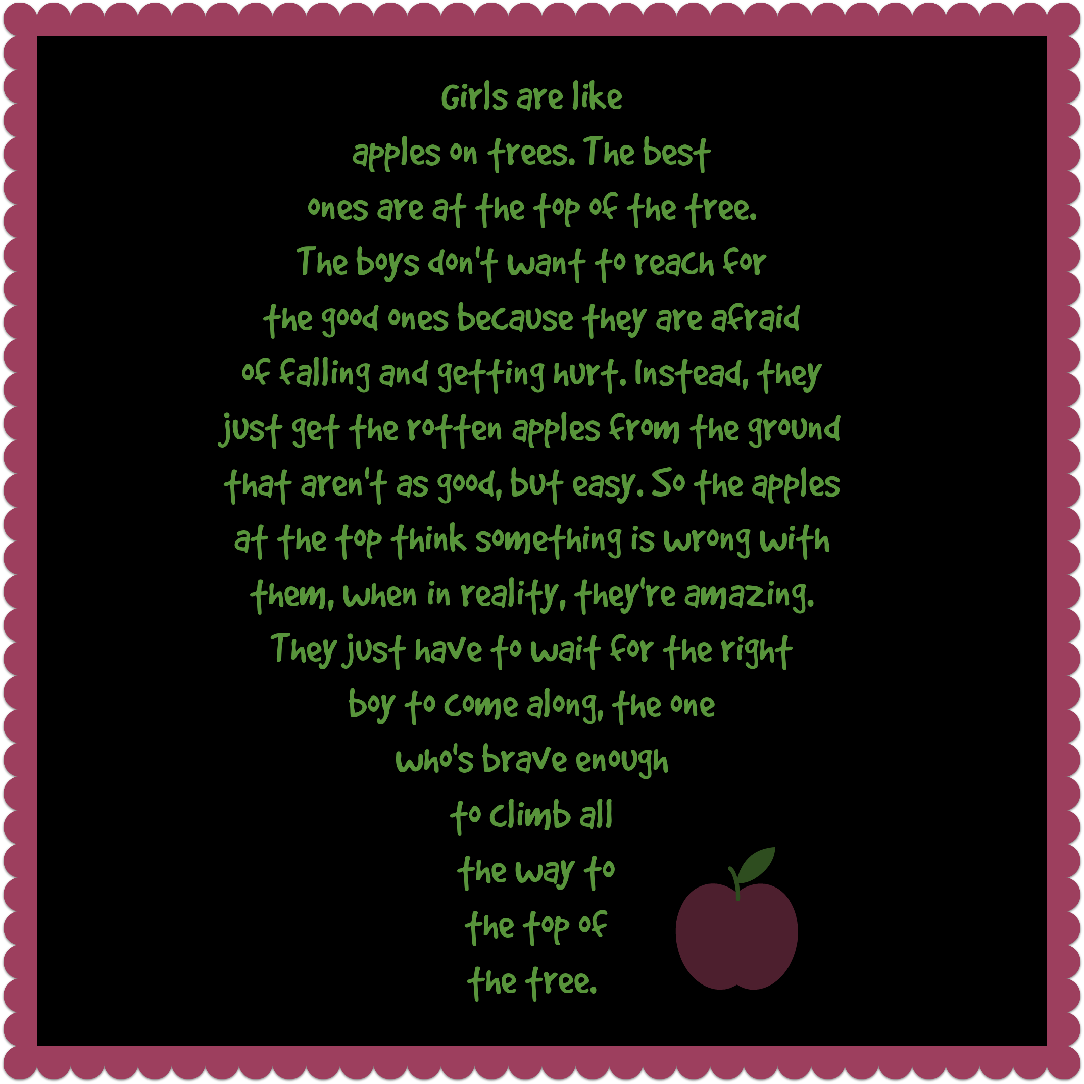 Girls Are Like Apples On Trees
