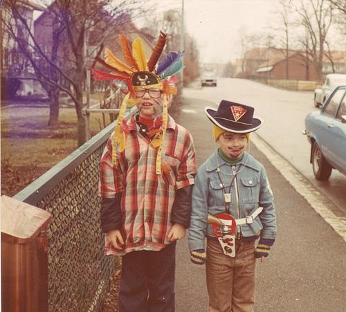Indian headdress halloween costume 1974