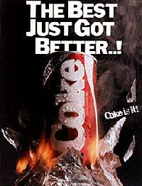 One of Coke's ads to promote the flavor change.